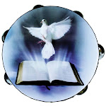 SCY ATMDOV8 8 in. Zebra Tambourine Dove Bible