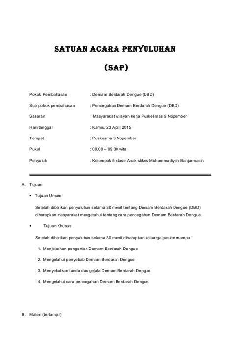 SAP Demam Berdarah + Leaflet