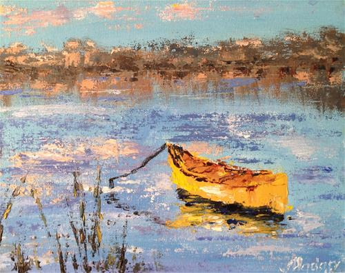 DPW  Original Fine Art Auction - Yellow canoe - © Alina Madan
