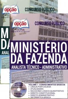 Apostila Preparatória Ministério da Fazenda-ANALISTA TÉCNICO - ADMINISTRATIVO
