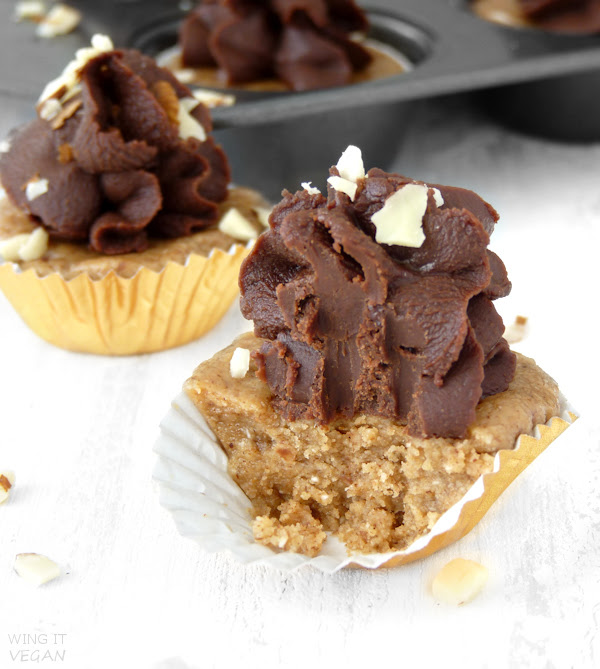 "No-Bake Almond Chocolate ""Cupcakes"""