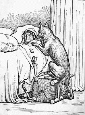 """He fell upon the Good Woman."" p. 81."