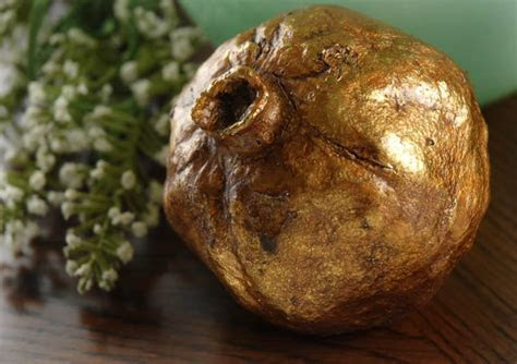 Antique Gold Decorative Pomegranate