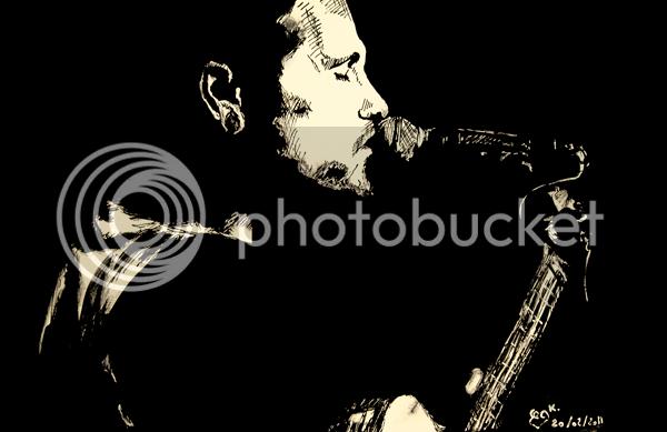 John Butler Trio portrait dessin drawing ink encre