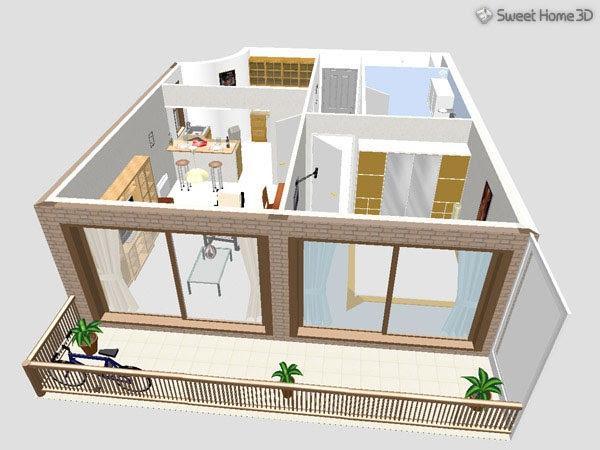 Aplikasi membuat desain rumah 3 dimensi gontoh for Sweet home 3d gratis