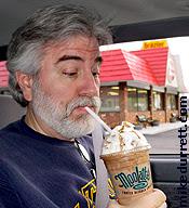 Rare surveillance photo shows Mike inhaling a Moolatte.