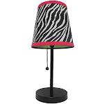 LimeLights Zebra Fun Prints Table Lamp in Black | ShopLadder
