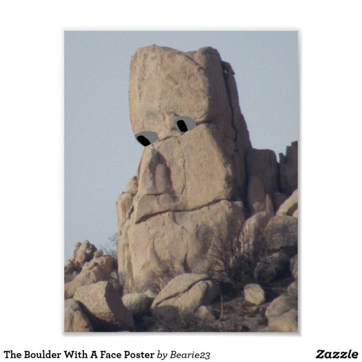The Boulder With A Face Poster