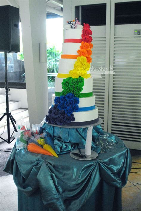 Thursday S Cake Catch Rainbow Wedding Cake Boogie