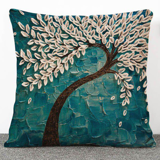 Chic Quality 3D Trees Pattern Flax Pillow Case(Without Pillow Inner), GREEN in Decorative Pillows & Shams | DressLily.com