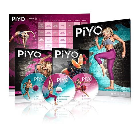 piyo pilates yoga  cardio dvd home fitness workout