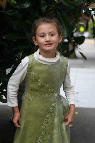 Julia in her Wicked dress