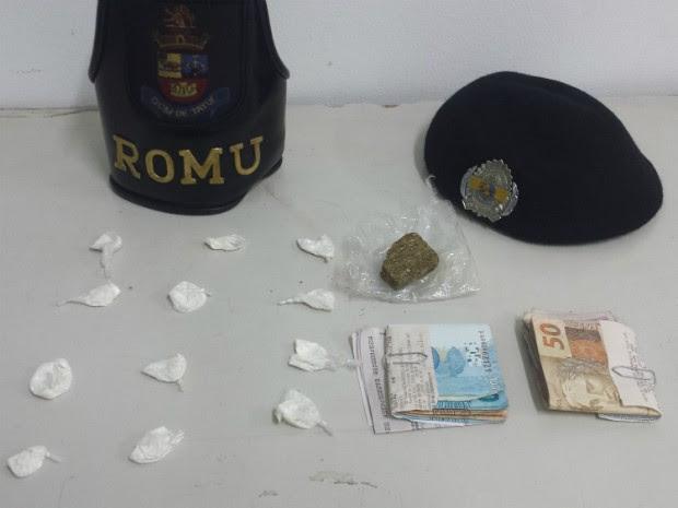 Ainda em Tatuí, frentista foi detido com drogas (Foto: Divulgação / GCM Tatui)