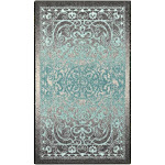"""1'8""""X2'10"""" Scroll Tufted Accent Rug Gray - Maples"""