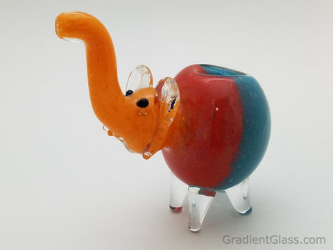 TriColor Elephant Animal Pipe - $14.99