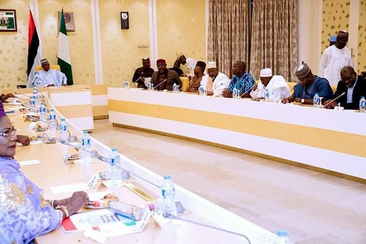 Just In: Buhari Receives Apc Governors, Had Meeting In Closed Doors