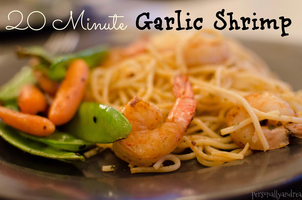 20 Minute Garlic Shrimp  | personallyandrea.com
