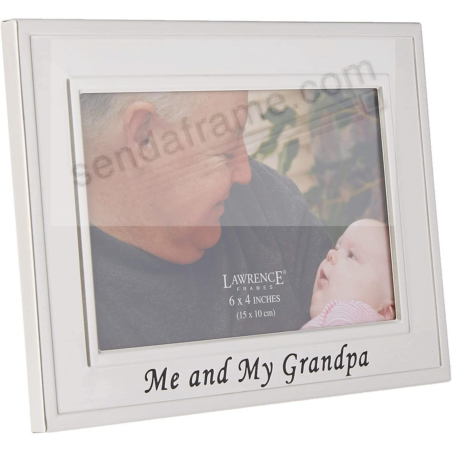 Lawrence Frames Me And My Grandpa Brushed Silver 6x4 Frame