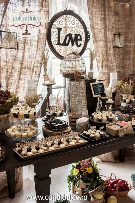 Rustic theme / Vintage theme /Candy Bar /Dessert Table