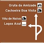 Placa Indicativa de sentido (direçao) - Placa diagramada pre-sinalizaçao