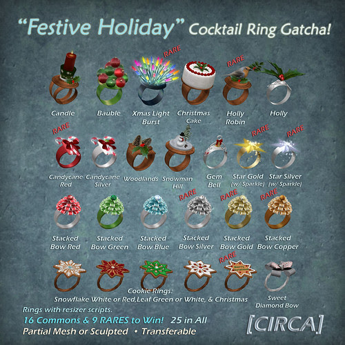 "[CIRCA] - ""Festive Holiday"" -  Cocktail Ring Gatcha"