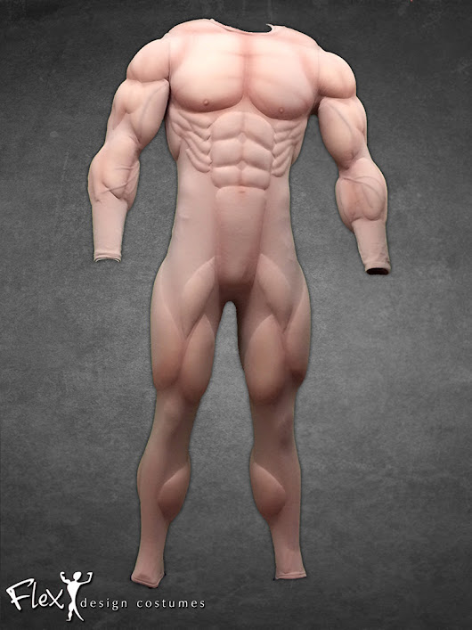 Lifelike Full-Body Muscle Suits That Range From Lean to Mega-Sized Muscle Tones