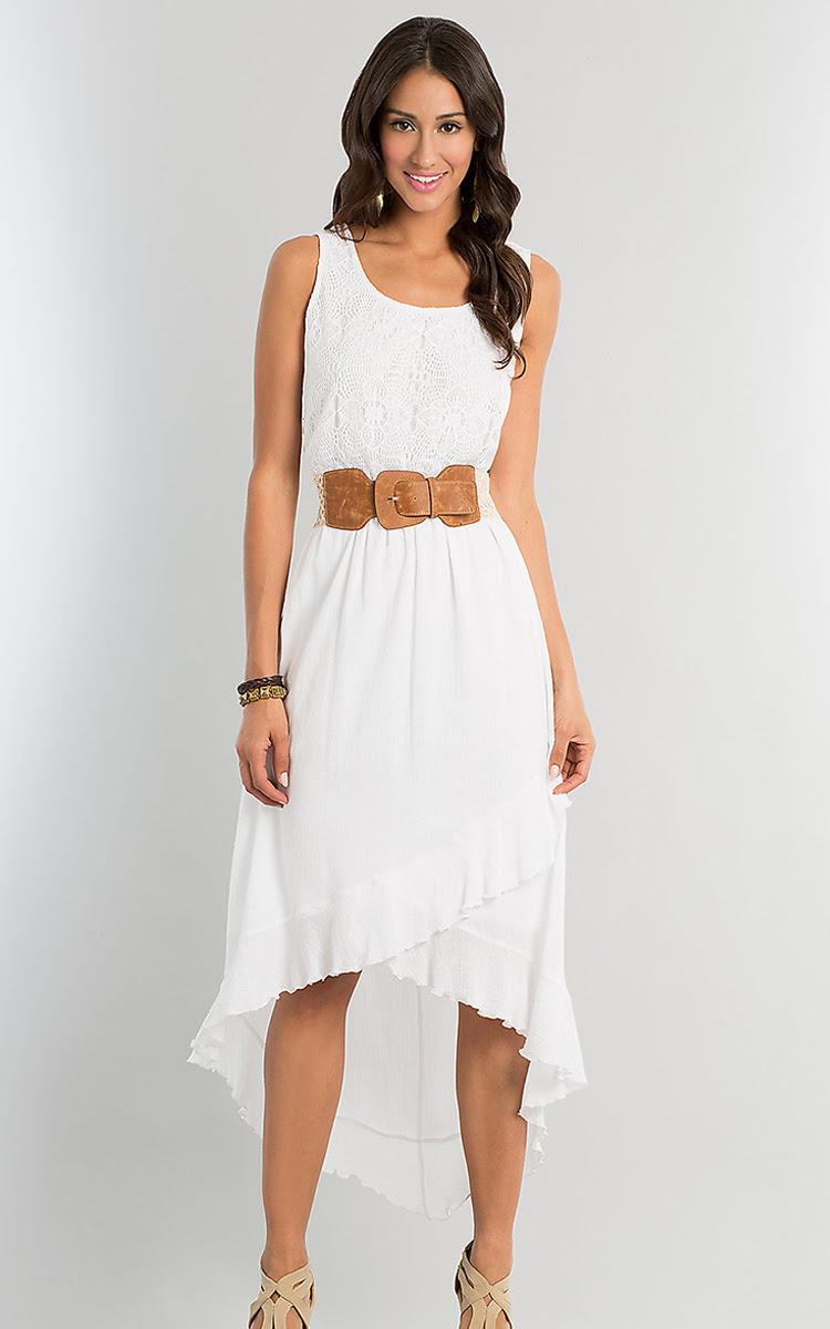 white high low dress  dressedupgirl