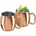 Oggi Moscow Mule Copper Plated Mugs Set of 2, 20-Ounce