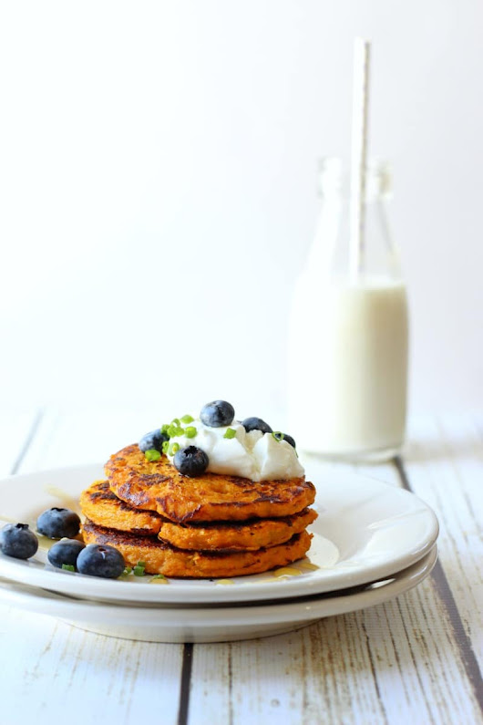 Paleo Sweet Potato Pancakes | Garden in the Kitchen