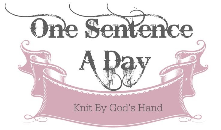 Image result for knit by gods hand one sentence a day