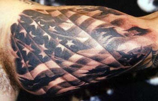 25 Awesome American Flag Tattoo Designs Art And Design