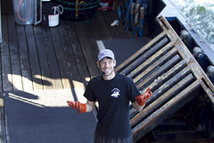 Travis Arket on the crab deck