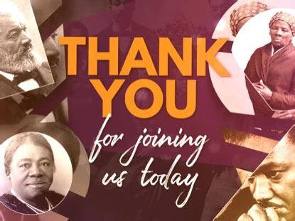 black history month closing motion playback media