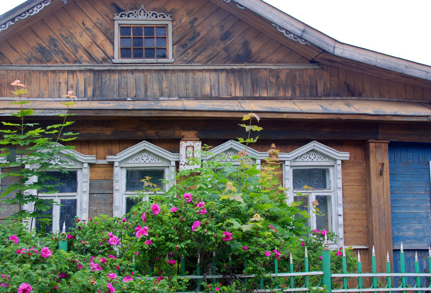 Dacha with roses
