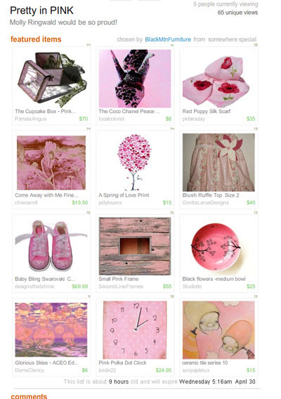 Pretty in Pink Treasury