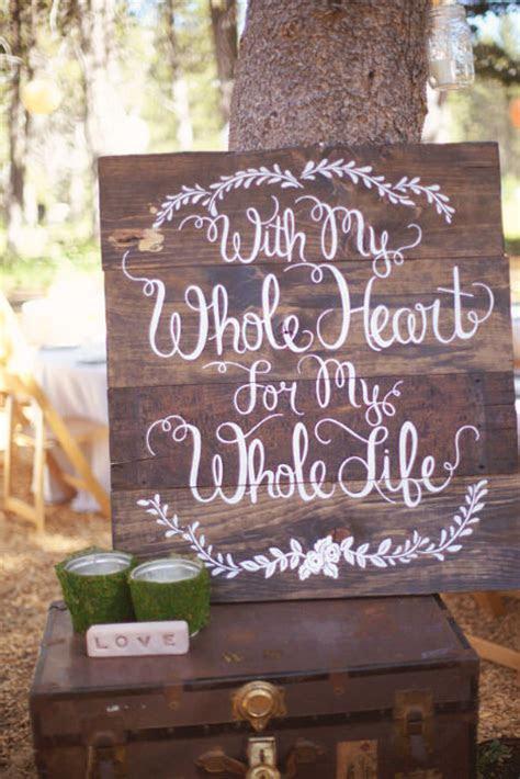20 Wedding Signs We Love   Intimate Weddings   Small