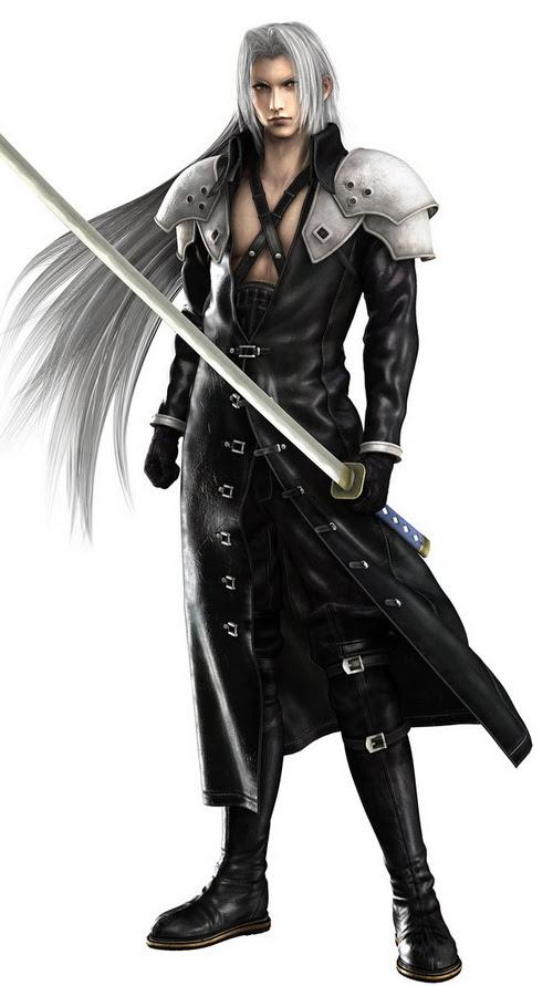 11a sephiroth ffvii Top 20 personagens masculinos mais bonitos dos games