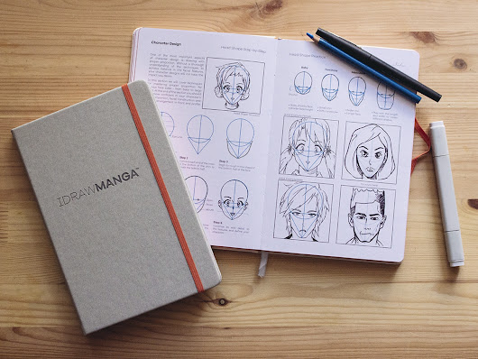 I DRAW MANGA Sketchbook & Reference Guide