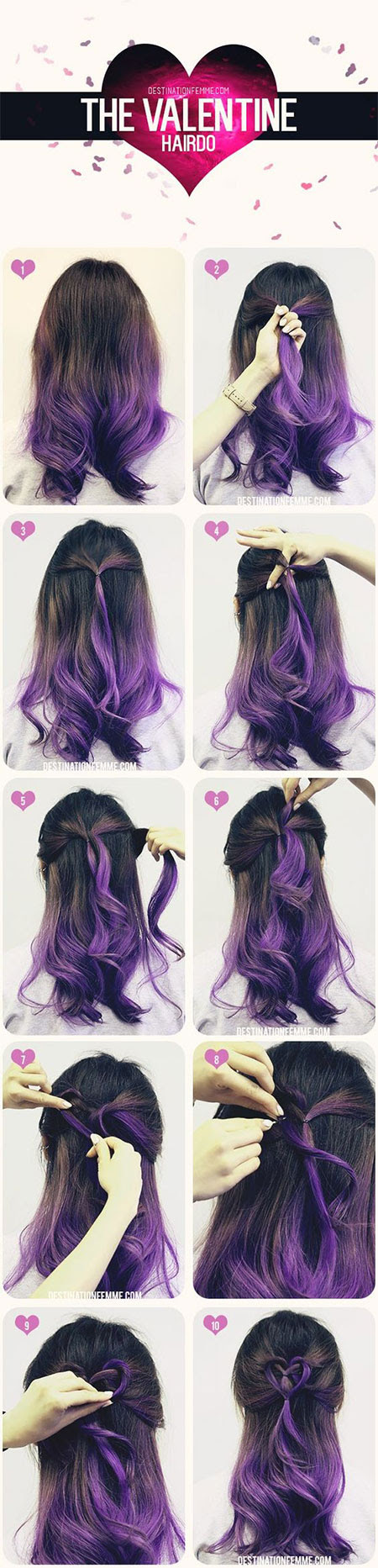Easy Valentines Day Hairstyle Tutorials For Beginners Learners