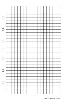 This daily planner page of grid or graph paper goes on the right ...