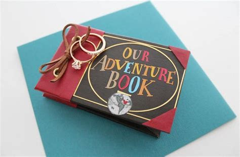 Our Adventure Book Engagement Ring Box , Personalized Ring