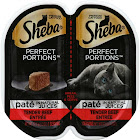 Sheba Perfect Portions Cat Food, Beef Entree - 2 pack, 1.3 oz trays