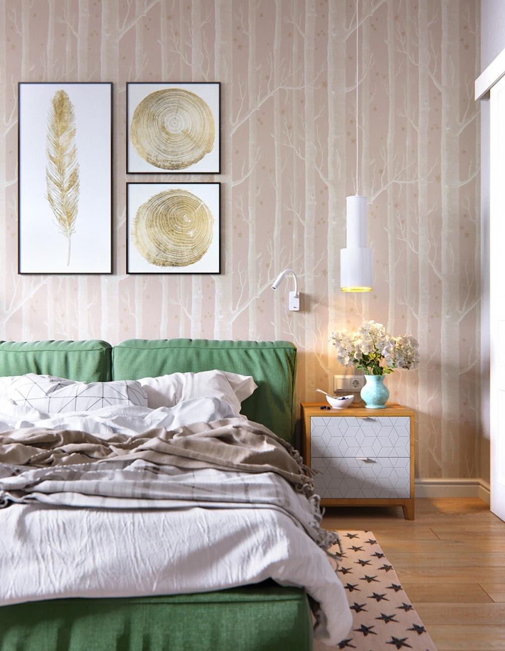 chi tiết trang trí phòng ngủ