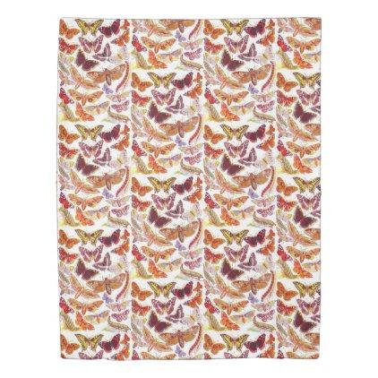 Reversible Butterflies & Moths Duvet Cover
