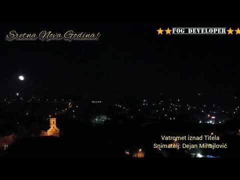 Pogledajte snimak novogodišnjeg vatrometa iznad Titela