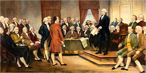 [Painting of the Founders of the United States of America]