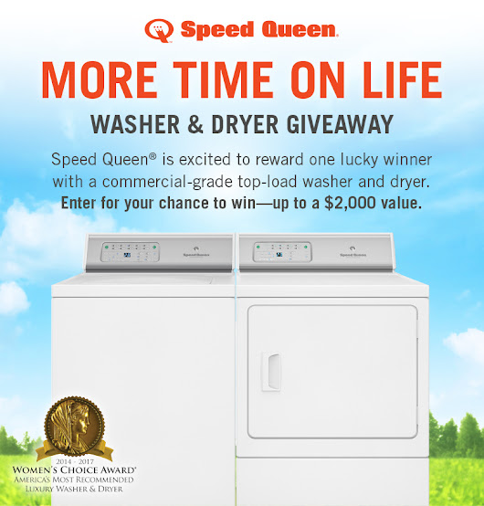 WIN a Speed Queen Washer & Dryer