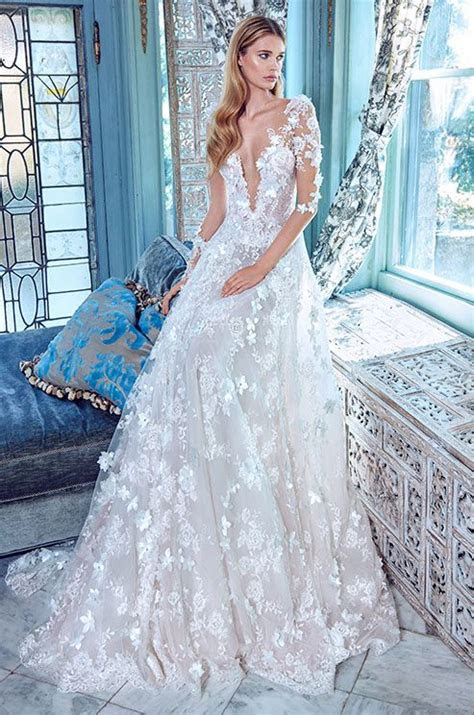 gorgeous floral applique wedding dresses weddingomania