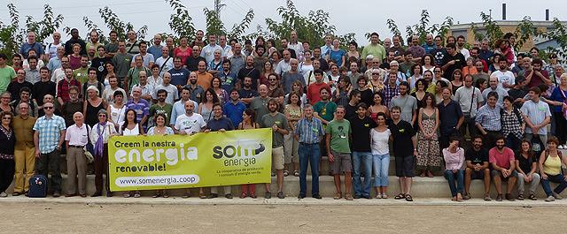 Miembros de la cooperativa durante la 'trobada' de Calafell. | Som Energia