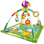 Fisher-Price Rainforest Music and Lights Deluxe Gym Baby Activity Play Mat by VM Express